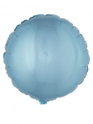 Ballon aluminium rond turquoise 45 cm