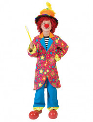 Déguisement clown dans les étoiles multicolore garçon