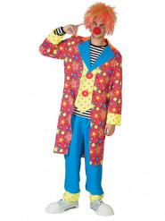 Déguisement clown dans les étoiles multicolore homme