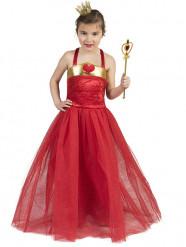 Déguisement princesse des coeurs rouge fille