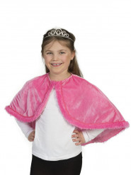 Cape en peluche rose fille