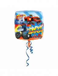 Ballon aluminium Happy Birthday  Blaze et les Monster Machines™ 43 cm