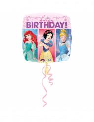 Ballon aluminium Happy Birthday Princesses Disney™ 43 cm