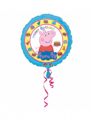 Ballon aluminium Happy Birthday Peppa Pig™ 43 cm