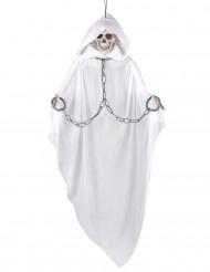 Décoration articulée sorcière blanche 153 cm Halloween