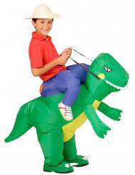 Déguisement explorateur à dos de dinosaure enfant