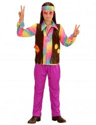 Déguisement hippie multicolore pastel garçon