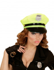 Casquette police jaune adulte