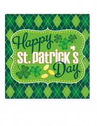 16 Serviettes en papier St Patrick 33 x 33 cm