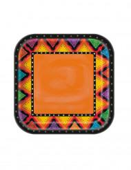 8 Assiettes en carton Mexique 22 cm