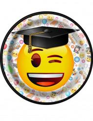 8 Petites assiettes en carton Emoji™