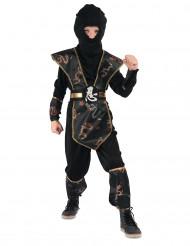 Déguisement ninja dragon d'or garçon