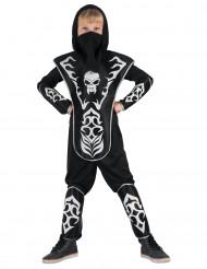 Déguisement ninja tête de mort garçon