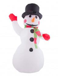Décoration bonhomme de neige gonflable et lumineux 120 cm Noël