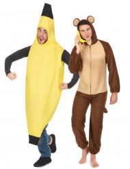 Déguisement de couple banane et singe