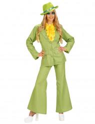 Déguisement costume vert femme