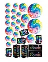 30 Décorations cartonnées disco