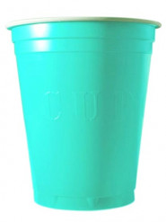 20 Gobelets 53cl turquoise