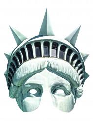 Masque carton statue de la liberté