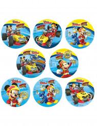 16 Mini disques en sucre Mickey™ 3,4 cm