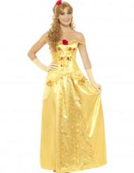Déguisement princesse des rêves jaune femme