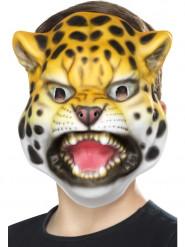 Masque tête de léopard enfant