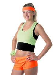 Mini short orange fluo femme