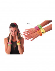Bracelet fashion rose fluo adulte