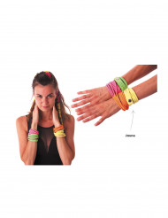 Bracelet fashion jaune fluo adulte