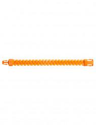 Bracelet zip orange fluo adulte