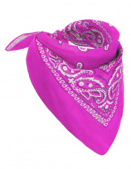 Bandana rose fluo adulte