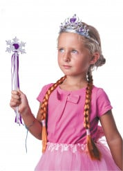 Kit accessoires princesse des neiges violette fille