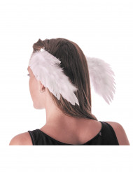Ailes d'anges blanches à clips adulte