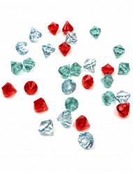 30 pierres précieuses colorées