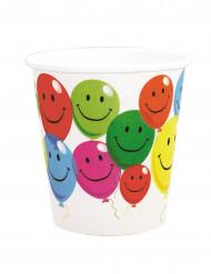 6 Gobelets en carton Smile 20 cl