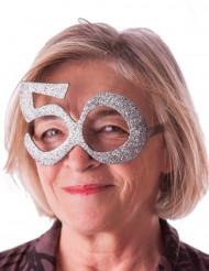 Lunettes âge à paillettes 50 ans
