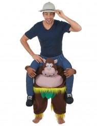 Déguisement homme à dos de singe adulte