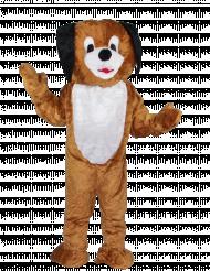 Mascotte chien maxi tête luxe adulte