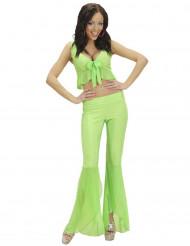 Déguisement disco sexy fluo vert femme