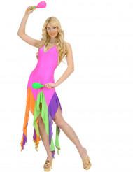 Déguisement danseuse brésilienne fluo rose femme