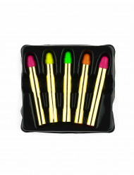 5 Crayons maquillages fluo