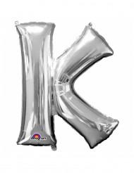 Ballon aluminium géant Lettre K argent 66 x 83 cm