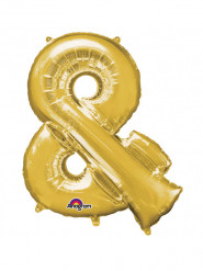 Ballon aluminium géant Symbole & or 76 x 96 cm