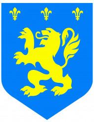 Cutout médiéval lion bleu diam. 30cm