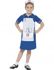 Déguisement infirmière bleue fille