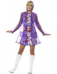 Veste imperméable années 60 violette femme