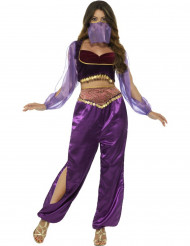 Déguisement princesse arabe violette femme