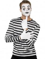 T-shirt rayé noir et blanc adulte