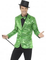 Veste disco verte à sequins luxe homme