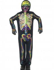 Déguisement squelette coloré phosphorescent enfant Halloween